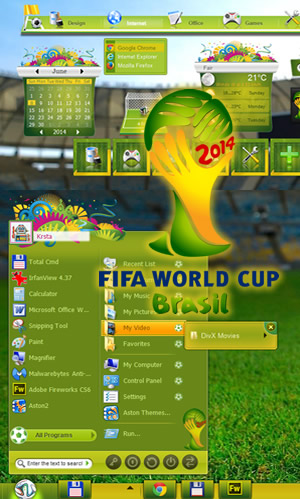 Theme On Windows 7 And 8 Brasil World Cup 2014
