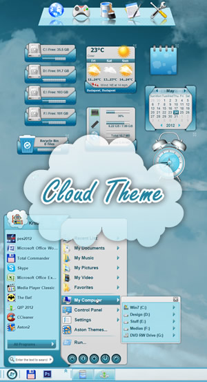 Aston Desktop Themes, 3D Animated Desktop Themes, Replace Windows Desktop, ...
