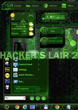 skin pack hacker for windows 7 full version