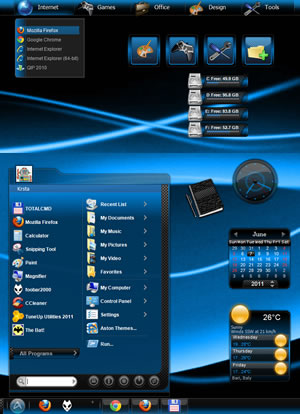 The launcher icons are from eos_neon vga theme, I resized and recolored the